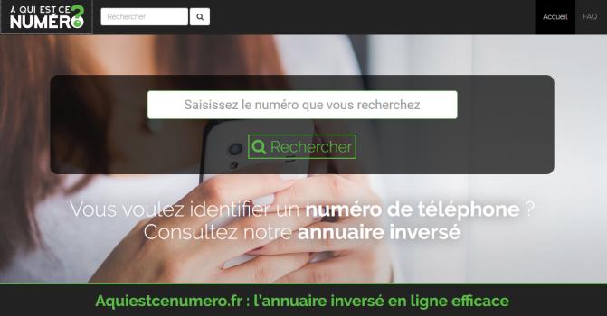 Aquiestcenumero.fr est votre annuaire inversé en ligne